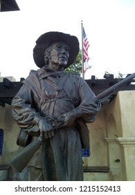 San Diego, CA / USA - May 5 2015: A statue of a Mormon soldier, one of the first groups of American soldiers to arrive in California.