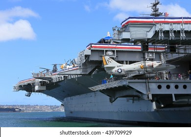 SAN DIEGO, CA, USA-MAY 22-USS Midway Museum, May 22, 2016