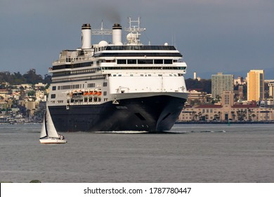 San Diego, California 05-17-2016 MS Amsterdam leaving San Diego, California.