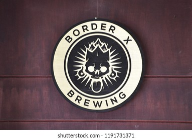 San Diego, California - January 14, 2018: Signage of Border X Brewing company.