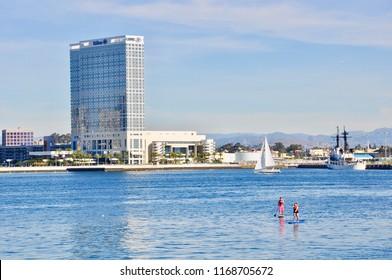 San Diego, California - Januray 14, 2018: Hilton San Diego Bayfront.
