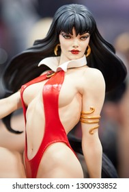 SAN DIEGO, CALIFORNIA - JULY 11, 2011: Sideshow Collectibles presented Vampirella Premium Format Statue during Comic Con
