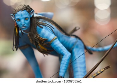 SAN DIEGO, CALIFORNIA - JULY 22, 2010: Sideshow Collectibles shows Neytiri Polystone Statue from Avatar movie