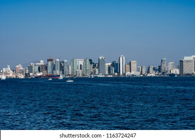 San Diego California July16,2018. The Embarcadero area of the San Diego downtown area is a fantastic place to visit. A vibrant waterfront with many restaurants and sights to visit.
