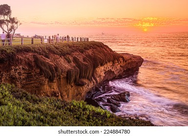 San Diego California, La Jolla Cove Sunset, USA