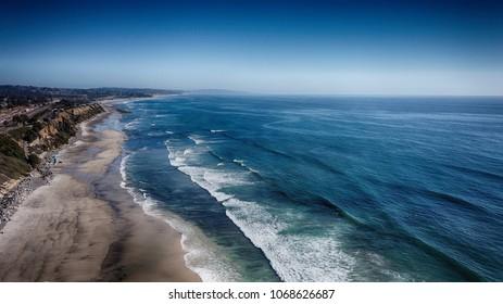 San Diego California North County Beach Scenery