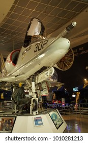 SAN DIEGO, CALIFORNIA - NOV 27, 2017 - Douglas A48 Skyhawk, Air and Space Museum at Balboa Park in San Diego, California