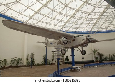 SAN DIEGO, CALIFORNIA - NOV 27, 2017 - Consolidated PBY-5A Catalina, Air and Space Museum at Balboa Park in San Diego, California