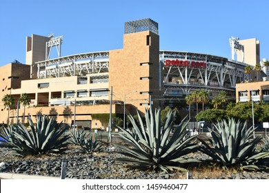 SAN DIEGO, CALIFORNIA - OCT 24: Petco Park in San Diego, California, as seen on Oct 24, 2018. It is home to the San Diego Padres of Major League Baseball (MLB).