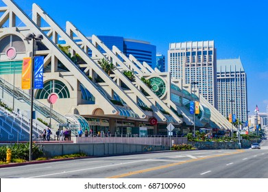 """SAN DIEGO, CALIFORNIA - OCTOBER 31, 2014 -   Building of the famous """"San Diego Comic-Con"""" festival in California city"""