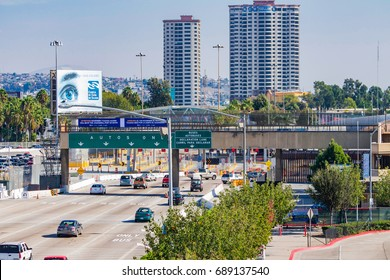 SAN DIEGO, CALIFORNIA - OCTOBER 31, 2014 - Border of the United States and Mexico in San Diego, California