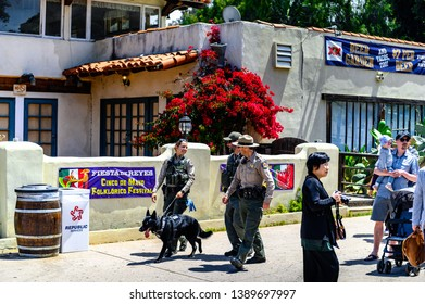 San Diego, California / United States - 05-05-2019: Cinco De Mayo in Old Town - California State Parks Officers