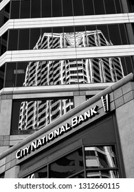 SAN DIEGO, CALIFORNIA, US - MARCH 11, 2007: Exterior of the City National Bank in San Diego California, US on March 11, 2007. On January 2015 was announced its acquisition by Royal Bank of Canada.