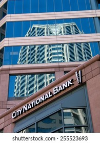 SAN DIEGO, CALIFORNIA, US - MARCH 11, 2007: Exterior of the City National Bank in San Diego California, US on March 11, 2007. On January 2015 was announced its acquisition by Royal Bank of Canada