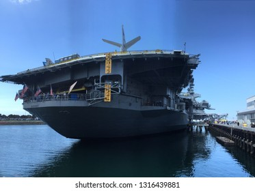 San Diego, California, USA - 4/2015: USS Midway Museum