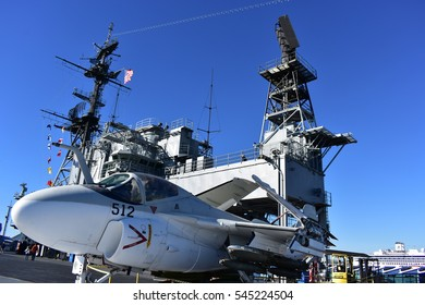 San Diego, California - USA - Dec 04,2016 - Aircraft 512 USS  Museum