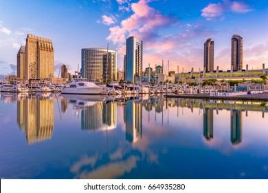 San Diego, California, USA downtown city skyline.