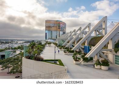 "San Diego, California, USA - July 3, 2015: Venue of the event ""San Diego Comic-Con International"" - San Diego Convention Center"