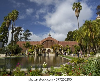 SAN DIEGO, California, USA - March 14, 2016: Botanical Building in Balboa Park, USA.