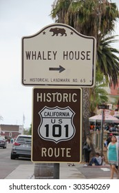 San Diego, California, USA - May 25, 2015: The Whaley House, one of the most haunted houses in America, was San Diego's second county courthouse and the first commercial theater in San Diego.