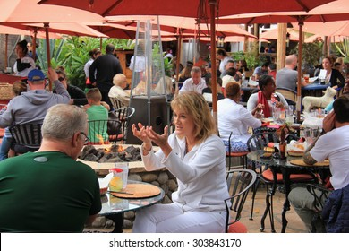 San Diego, California, USA - May 25, 2015: Restaurant at Fiesta de Reyes, the commercial area located at Old Town San Diego State Historic Park.