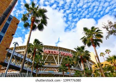San Diego, California, USA-01 March 2015:The Petco Park Baseball Stadium, home of the San Diego Padres MLB team