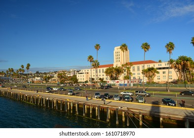 San Diego, California/USA-February 26, 2014: County Administration building on North Harbor Drive