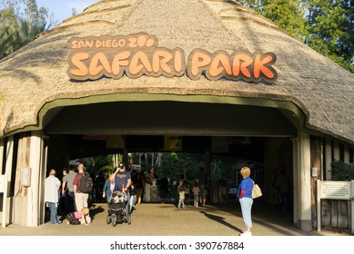 SAN DIEGO, CA/USA - JANUARY 16: Entrance of San Diego safari park zoo on Jan 16, 2016. It is one of the largest tourist attractions.