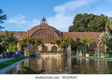 SAN DIEGO, CA/USA - JANUARY 17: Historic buildings in Balboa park, San Diego, CA on Jan 17, 2016.