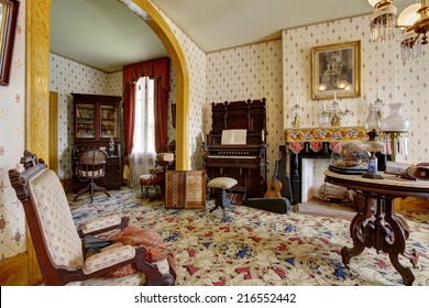 San Diego, CA/USA-AUGUST29: Room in Whaley House Museum, old town of San Diego. August29 2014 in San Diego, California, USA