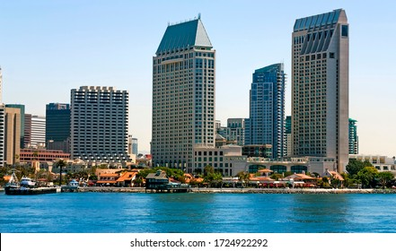 San Diego close-up view of from bay,California,United States of America.