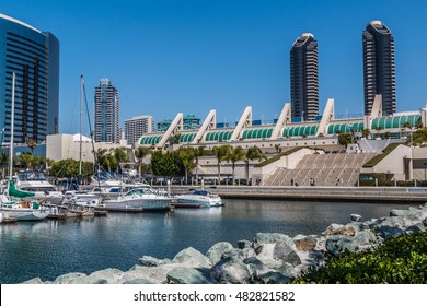 San Diego convention center as seen from the Embarcadero South.