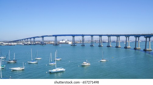 San Diego Coronado Bay Bridge - SAN DIEGO / CALIFORNIA - APRIL 21, 2017