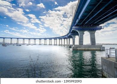 San Diego Coronado Bridge and water