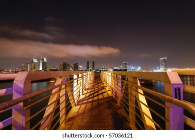 San Diego Harbor at Night from Coronado