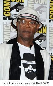 "SAN DIEGO - JUL 25:  Samuel L. Jackson at the ""Kingsman"" Press Line - Comic-Con International 2014 at the Hilton San Diego Bayfront on July 25, 2014 in San Diego, CA"