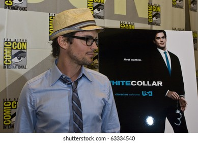 SAN DIEGO - JULY 22: Matthew Bomer of White Collar attends Comic-Con 2010 - Day 1 on July 22, 2010 in San Diego, California.
