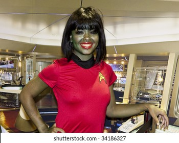 SAN DIEGO - JULY 23: A fan dresses up as a Star Trek character for Comic-Con - Day 1 on July 23, 2009 in San Diego, CA