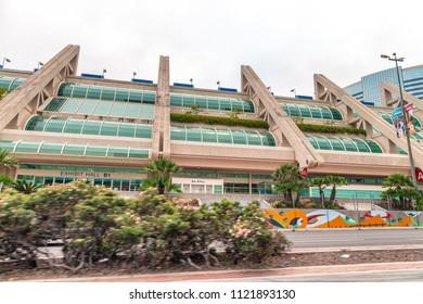 SAN DIEGO - JULY 29, 2017: San Diego Convention Center. It is the primary convention center in San Diego, California.