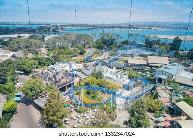 San Diego, JUN 27: Aerial view of the famous SeaWorld on JUN 27, 2018 at San Diego, California