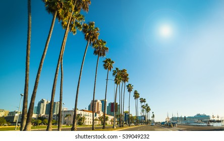 San Diego seafront on a sunny day, California