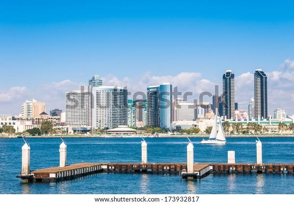 San Diego Skyline from Coronado Island