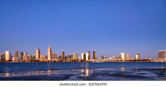 San Diego Skyline at Magic hour