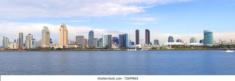 San Diego Skyline panorama, California.