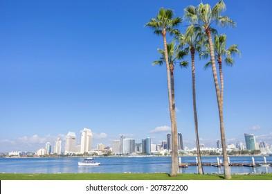 San Diego skyline view from Coronado Island