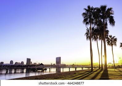 San Diego sunrise.  San Diego, California USA.