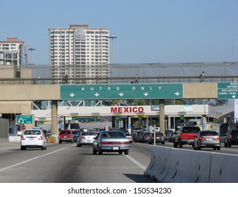 San Diego, USA - JUNE 19: Road to Tijuana, Mexico border on June 19, 2010 in San Diego