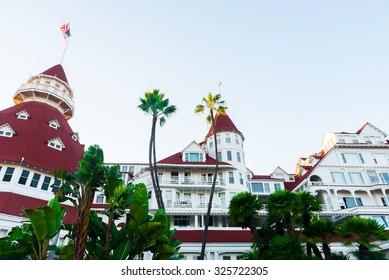 "SAN DIEGO, USA - SEPTEMBER 15, 2015: Victorian Hotel del Coronado on September 15, 2015 in San Diego, USA. In the hotel was filmed famous comedy ""Some like it hot"", which starred Marilyn Monroe."