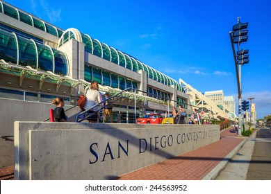 SAN DIEGO, USA - SEPTEMBER 28, 2014: San Diego Convention Center on September 28, 2014 It is located in the Marina district of downtown San Diego near the Gaslamp Quarter.
