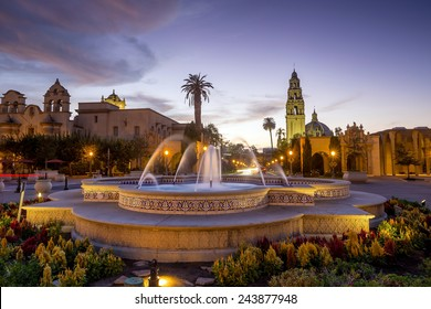 San Diego's Balboa Park at twilight in San Diego California USA